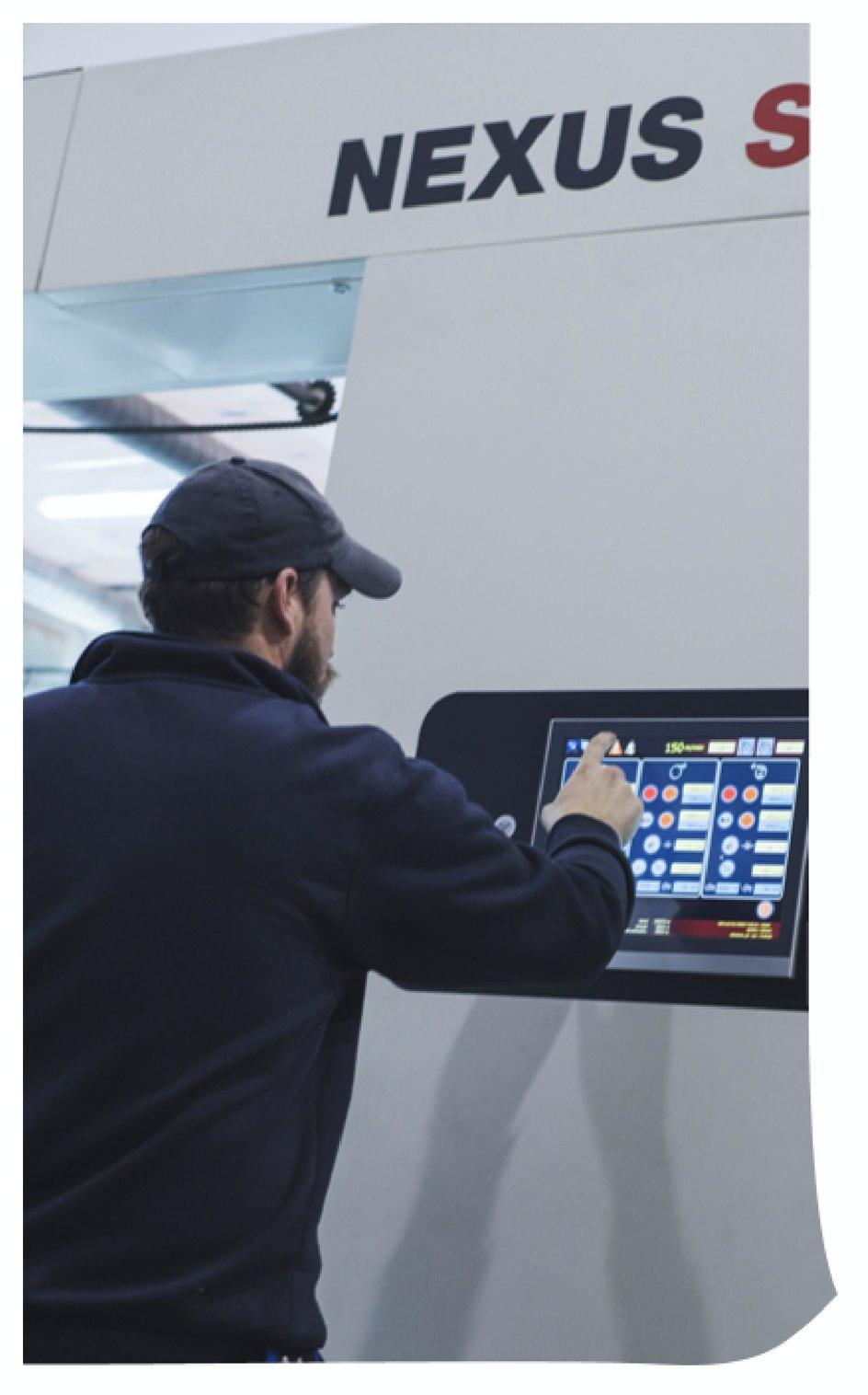 Laminierung Solventless-Technologie Innovation und Technologie Plastigaur recycelbare nachhaltige Verpackungen Gebinde Inline-Gewichtskontrolle