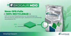 Plastigaur popup ekogaur MDO neue OPE-folie recyclebar 1